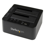 StarTech.com SDOCK2U33RE media duplicator HDD/SSD duplicator 1 copies Black