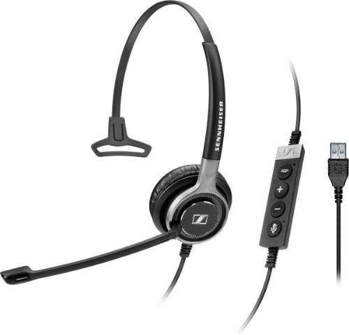 Sennheiser SC 630 USB ML Monaural Head-band Black,Silver