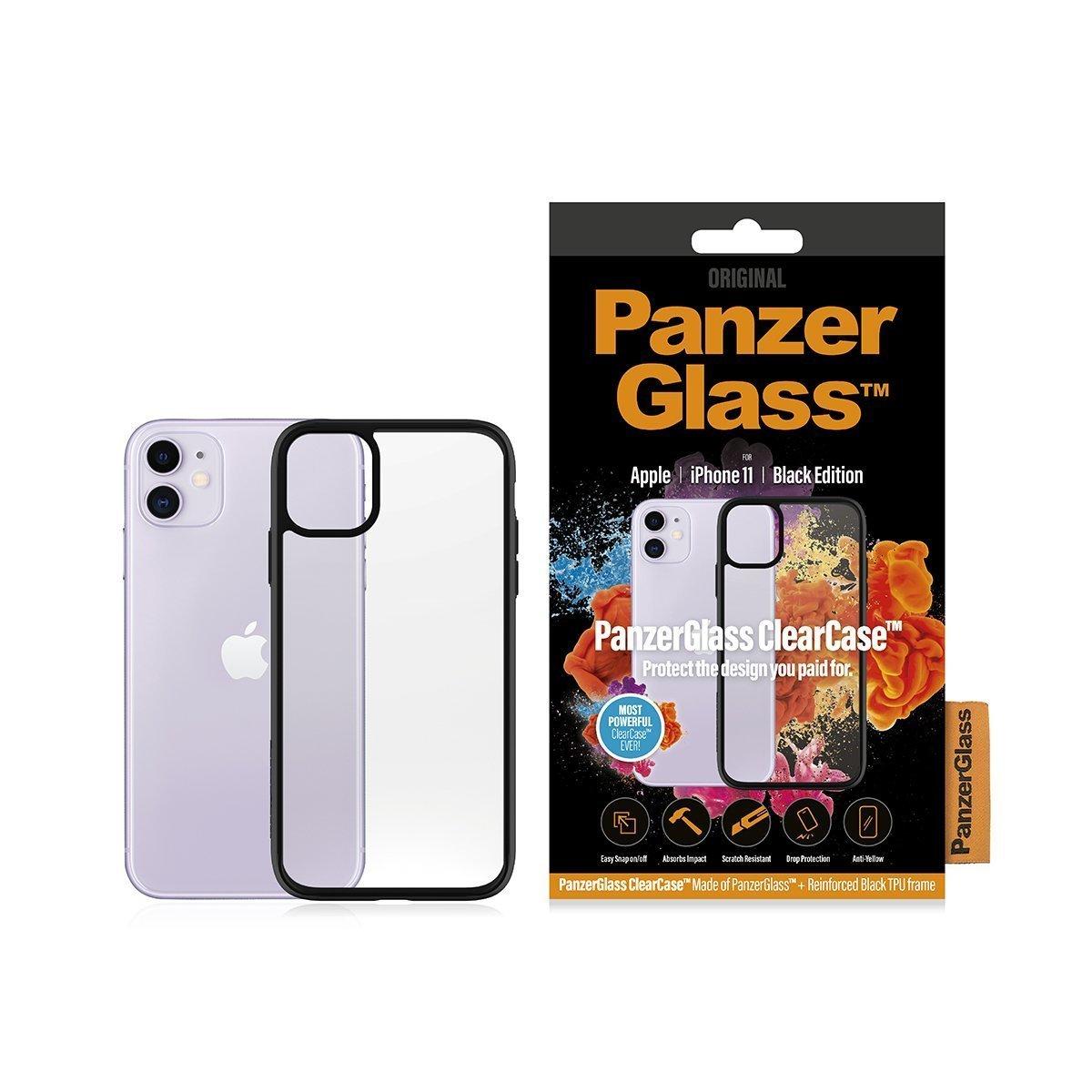 "PanzerGlass 0223 mobile phone case 15.5 cm (6.1"") Cover Black,Transparent"