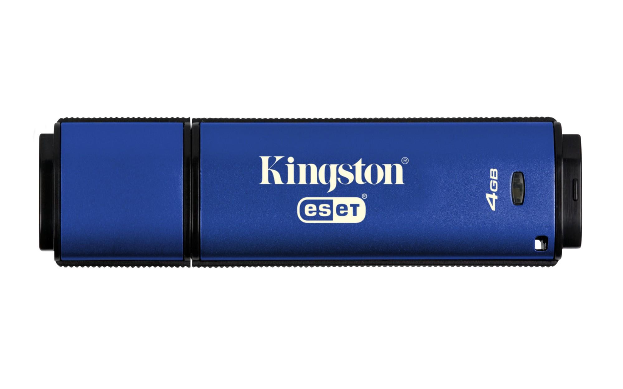 Kingston Technology DataTraveler Vault Privacy 3.0 Anti-Virus 4GB USB flash drive USB Type-A 3.0 (3.1 Gen 1) Blauw