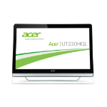 "Acer UT220HQL 21.5"" 1920 x 1080pixels Black touch screen monitor"