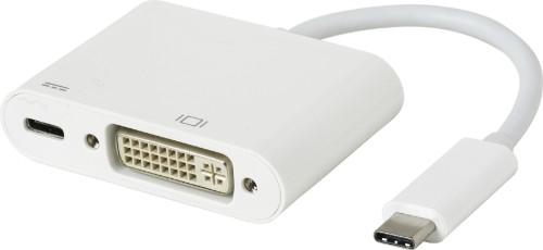 eSTUFF USB-C DVI Charging Adapter USB 3.2 Gen 1 (3.1 Gen 1) Type-C 5000 Mbit/s White