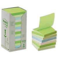 3M Post-it Recyc Pastel Pad 76x76 6541RP