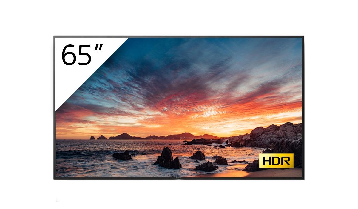 "Sony FWD-65X80H/T pantalla de señalización 163,8 cm (64.5"") IPS 4K Ultra HD Pantalla plana para señalización digital Negro Procesador incorporado Android 9.0"