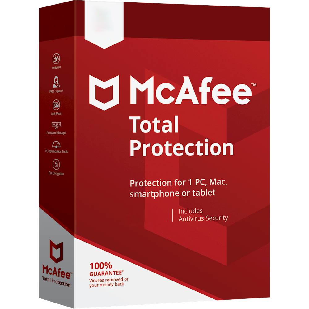 McAfee Total Protection Licencia básica 10 licencia(s) 1 año(s)