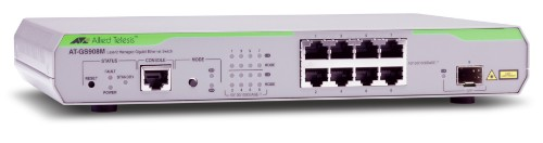 Allied Telesis AT-GS908M-50 Managed L2 Gigabit Ethernet (10/100/1000) Silver