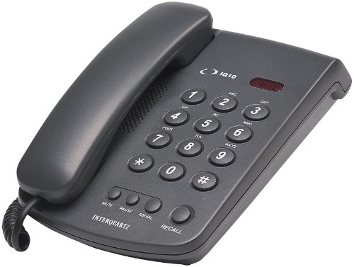Interquartz 9310B7 telephone Black