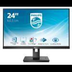 "Philips S Line 242S1AE/00 LED display 60.5 cm (23.8"") 1920 x 1080 pixels Full HD Black"