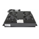 "Intellinet 4-Fan Ventilation Unit for 19"" Racks, Roof Mount, with Thermostat, Black 712866"