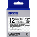 Epson C53S654012 (LK-4TBN) Ribbon, 12mm x 9m