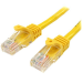 StarTech.com Cable de Red de 0,5m Amarillo Cat5e Ethernet RJ45 sin Enganches