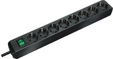Eco-line Extension Socket With Switch 8-way 3m Black