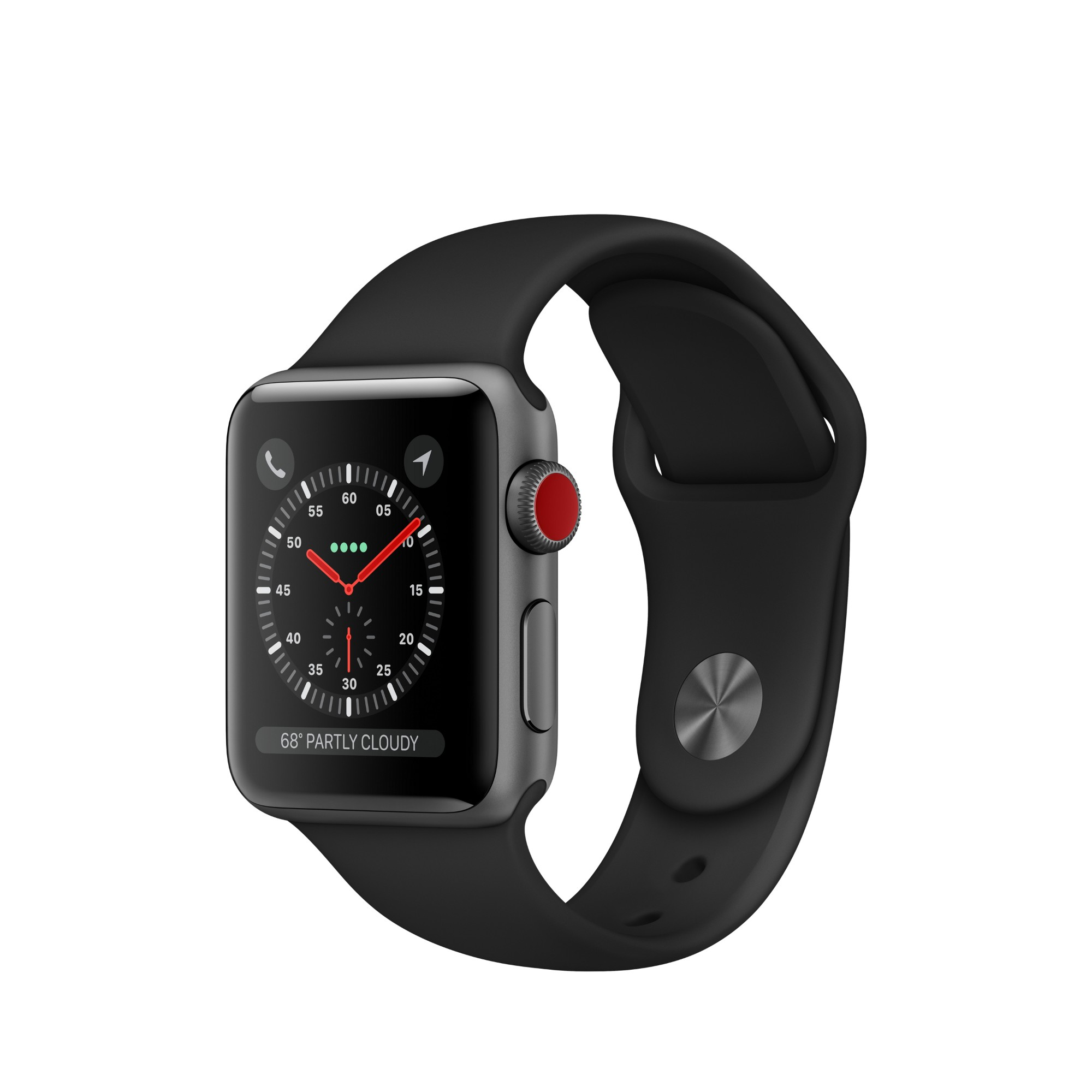Apple Watch Series 3 OLED GPS (satellite) Cellular Silver smartwatch