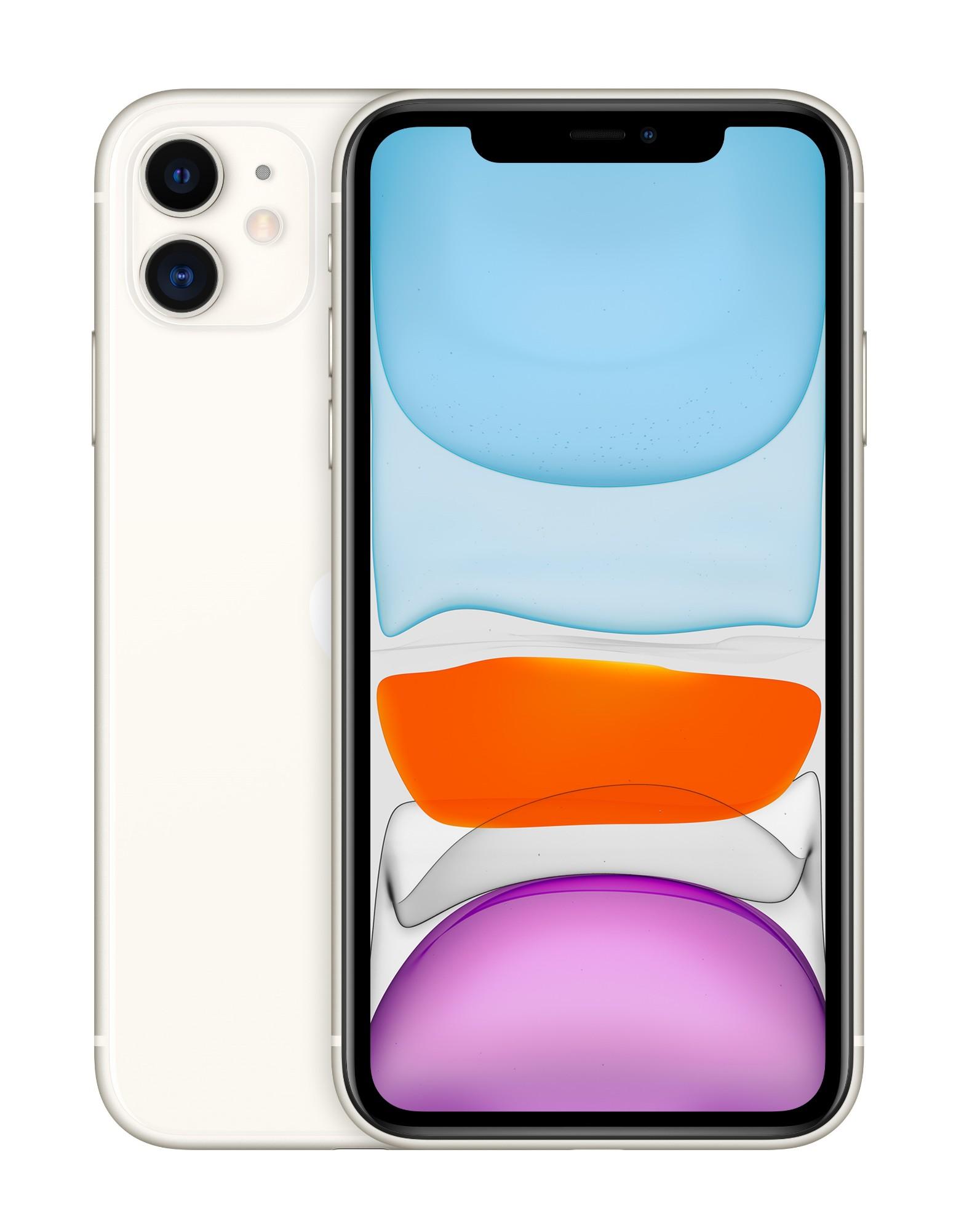 """Apple iPhone 11 15.5 cm (6.1"""") 128 GB Dual SIM White"""