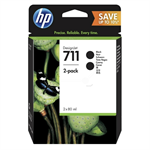 HP P2V31A (711) Ink cartridge black, 80ml, Pack qty 2