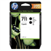 HP P2V31A (711) Ink cartridge black, 80ml, Pack qty 2