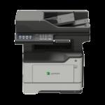 Lexmark Network ready; Print, copy, scan, fax; Duplex; 44 ppm; 1.2 GHz Quad-core; 2GB RAM; 4.3-inch colour L