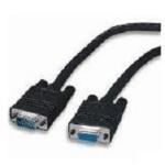 """4XEM 50ft VGA HD15 M/F VGA cable 600"""" (15.2 m) VGA (D-Sub) Black"""