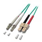 Lindy 5m OM4 LC-SC 5m LC SC Green fiber optic cable