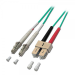 Lindy 5m OM4 LC-SC 5m LC SC Green fiber optic cable