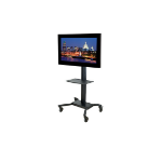Peerless SR560M Portable Black flat panel floorstand
