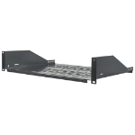 "Intellinet 19"" Cantilever Shelf, 2U, Fixed, Depth 350mm, Black. 710954"