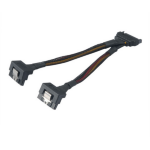 Akasa AK-CBPW15-15BK Internal 0.15m SATA 2 x SATA Black power cable