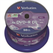 Verbatim DVD+R Double Layer 8x Matt Silver 50pk Spindle