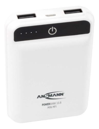 Ansmann Powerbank 10.8 mini white power bank Lithium Polymer (LiPo) 10000 mAh