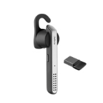 Jabra Stealth UC mobile headset Monaural Ear-hook Black, Silver Wireless