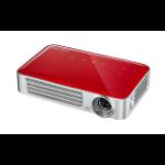 Vivitek Qumi Q6 data projector 800 ANSI lumens DLP WXGA (1280x800) 3D Portable projector Red, Silver