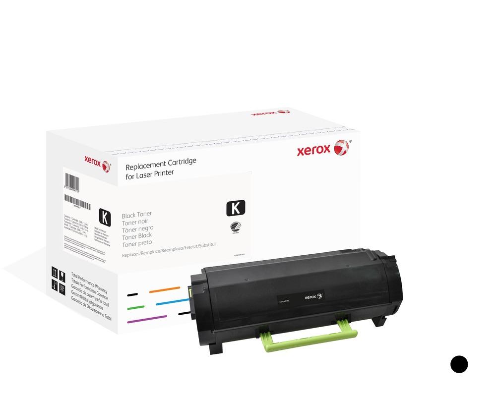 Xerox Cartucho de tóner negro. Equivalente a Lexmark 50F2X00. Compatible con Lexmark MS410, MS415, MS510, MS610
