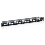Equip 24-Port Keystone Cat.6 Unshielded Patch Panel