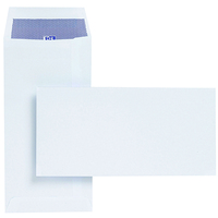 Plus Fabric Envelopes Pocket Press Seal 110gsm DL 220x110mm White [Pack 500]