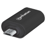 Manhattan Mobile OTG Adapter, Micro-USB to USB-A, OTG enabled Smartphone/Tablets using Micro-USB port, 480 Mbps (USB 2.0), Black , Blister