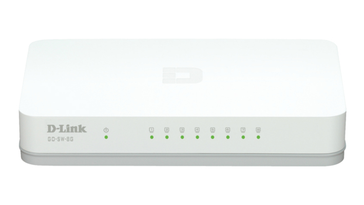 D-Link GO-SW-8G/B 8-Port Gigabit Easy Desktop Switch - UK Plug