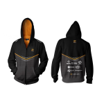 Fnatic Black 3XL Player Zipped Hoodie