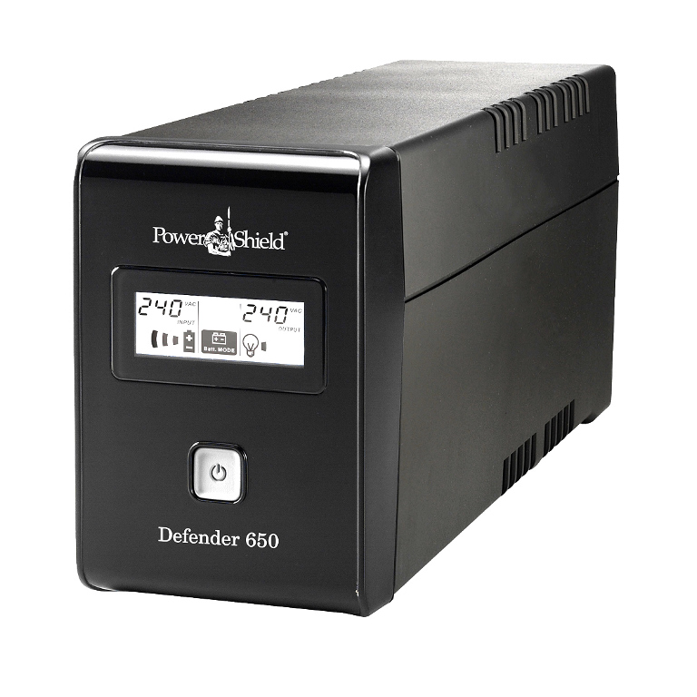 POWERSHIELD Defender 650VA Fanless, USB i/Face, AVR Prote