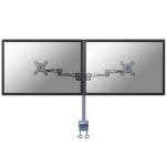 Neomounts by Newstar FPMA-D935D Flat panel Tischhalter 68,6 cm (27 Zoll) Klemme Silber