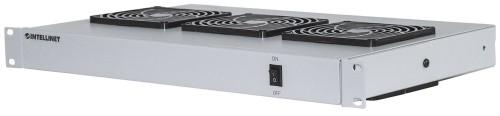 "Intellinet 3-Fan Ventilation Unit for 19"" Racks, 1U, Grey"