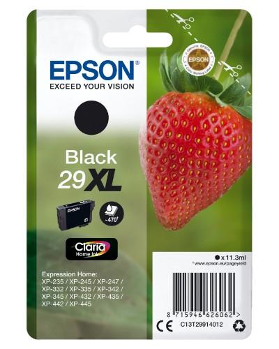 Epson C13T29914012 (29XL) Ink cartridge black, 470 pages, 11ml