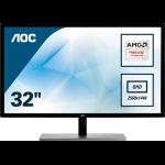 """AOC Value-line Q3279VWF computer monitor 80 cm (31.5"""") Quad HD LED Flat Zwart"""