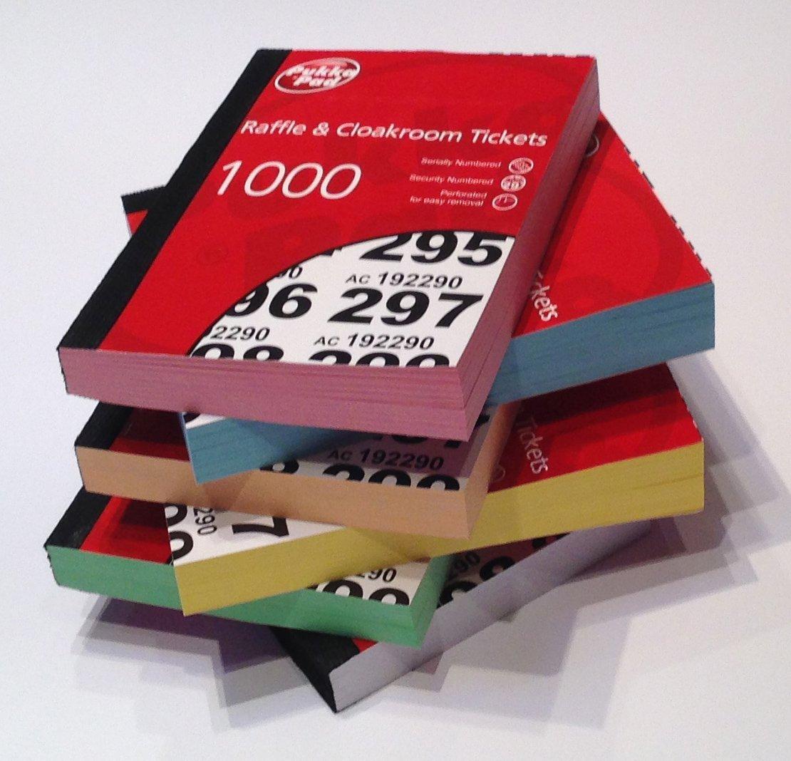 Pukka Value Cloakroom-Raffle Tickets Numbers 1-1000 PK6