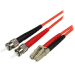 StarTech.com Cable Adaptador de Red de 1m Multimodo Dúplex Fibra Óptica LC-ST 50/125 - Patch Duplex