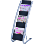ALBA FLOOR BROCHURE HOLDER STAND 6 TIER SINGLE