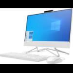 """HP 22 -df0003ns 54,6 cm (21.5"""") 1920 x 1080 Pixeles AMD Athlon Silver 8 GB DDR4-SDRAM 256 GB SSD Wi-Fi 5 (802.11ac) Blanco PC todo en uno Windows 10 Home"""