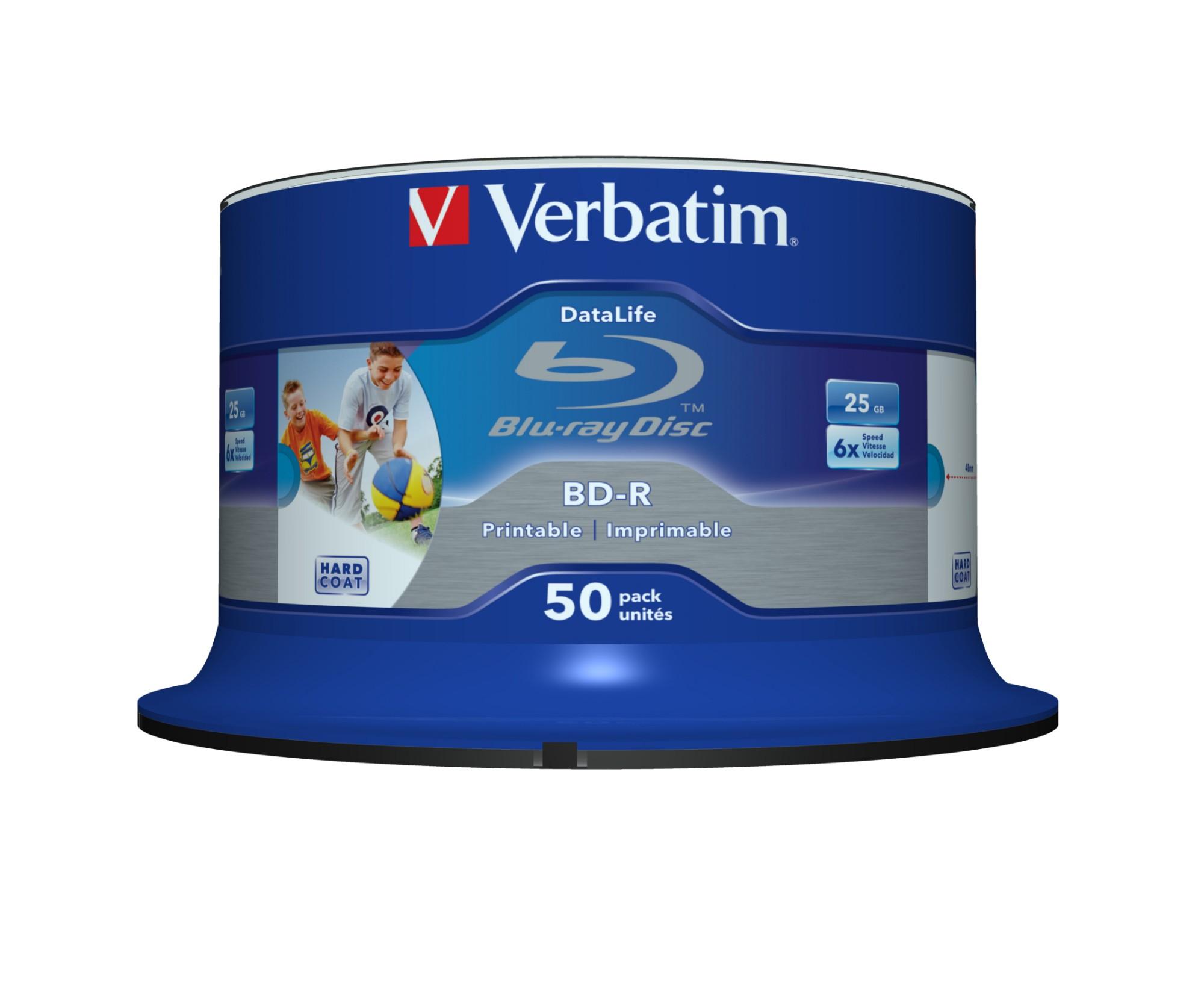 Verbatim 43812 blank Blu-Ray disc BD-R 25 GB 50 pc(s)