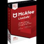 McAfee LiveSafe English Base license 1 license(s) 1 year(s)