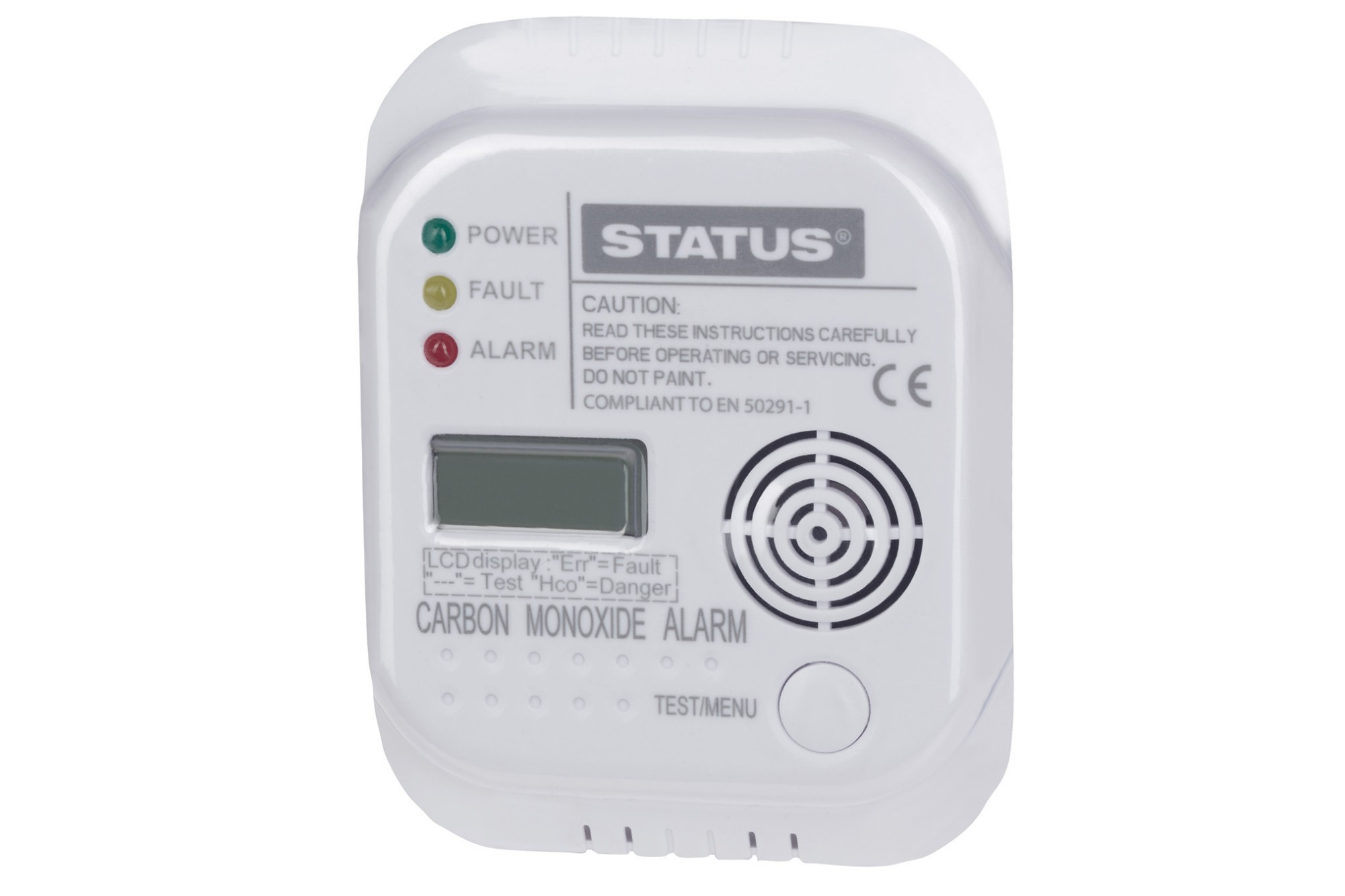 STATUS Carbon Monoxide 85dB Alarm with LCD Display & Batteries Included