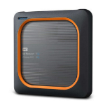 Western Digital My Passport Wireless 2000 GB Wi-Fi Schwarz, Orange